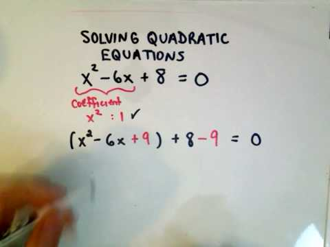 Completing The Square Solving Quadratic Equations Youtube