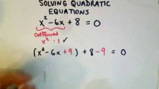 Completing the Square - Solving Quadratic Equations