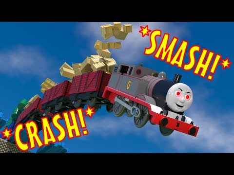 TOMICA Thomas and Friends Slow Motion Crashes: Timothy PLUNGES into a Ravine!