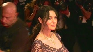 Stunning Monica Bellucci walking the On the milky road red carpet during the 2016 Venice Film Festiv