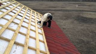видео Инструкция по монтажу композитной черепицы Roser