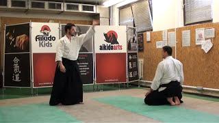 hanmi handachi shomen uchi nikyo [AIKIDO]  basic technique