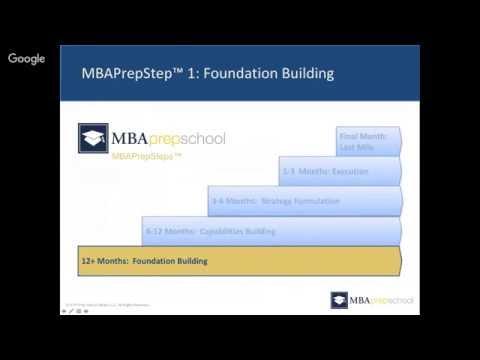 Complete Program for Getting into Top 5 B School - MBA Prep School