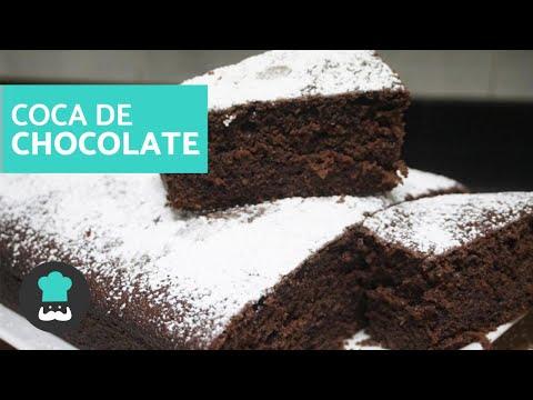 Coca de Chocolate ESPONJOSA - Receta FÁCIL