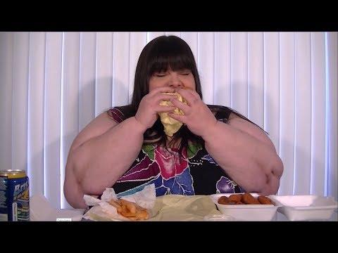 Veggie Burger With Fries and Zucchini Sticks – Mukbang