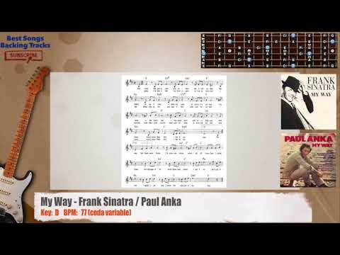 My Way - Frank Sinatra / Paul Anka Guitar Backing Track with chords ...