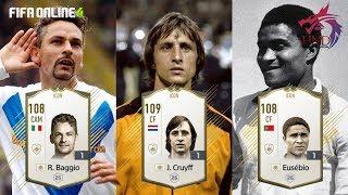 Review nhanh top 3 ICONS: Cruyff - Eusebio - Baggio