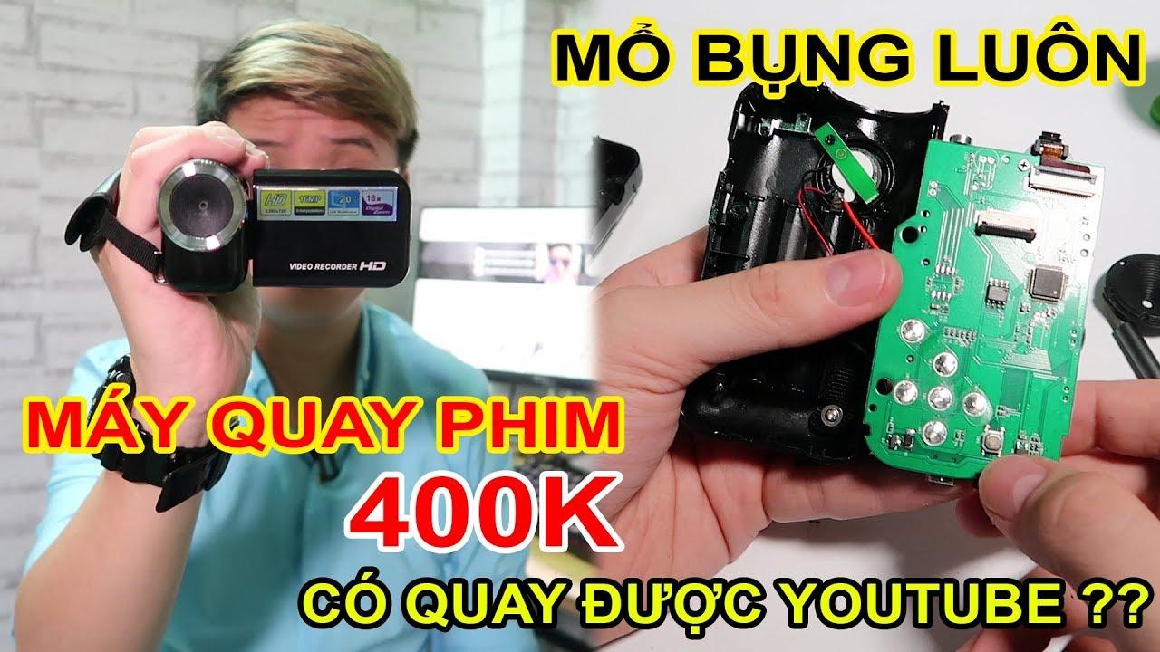 Mở hộp Mổ Bụng Máy quay phim rẻ 400k trên LAZADA. Quay video YOUTUBE được không? | MUA HÀNG ONLINE