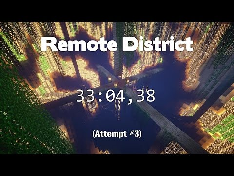 Minecraft Speedrun: Remote District - 33:04,38 [WR]