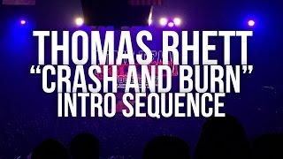 Thomas Rhett - Crash & Burn - Intro Sequence - Dekalb, IL - Home Team Tour