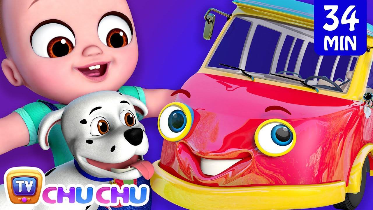 Wheels on the Bus - Bus Songs Collection - Vehicles and Animals for Kids  - ChuChu TV
