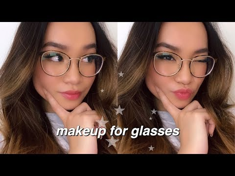 everyday makeup for glasses ✰ + eyewear haul