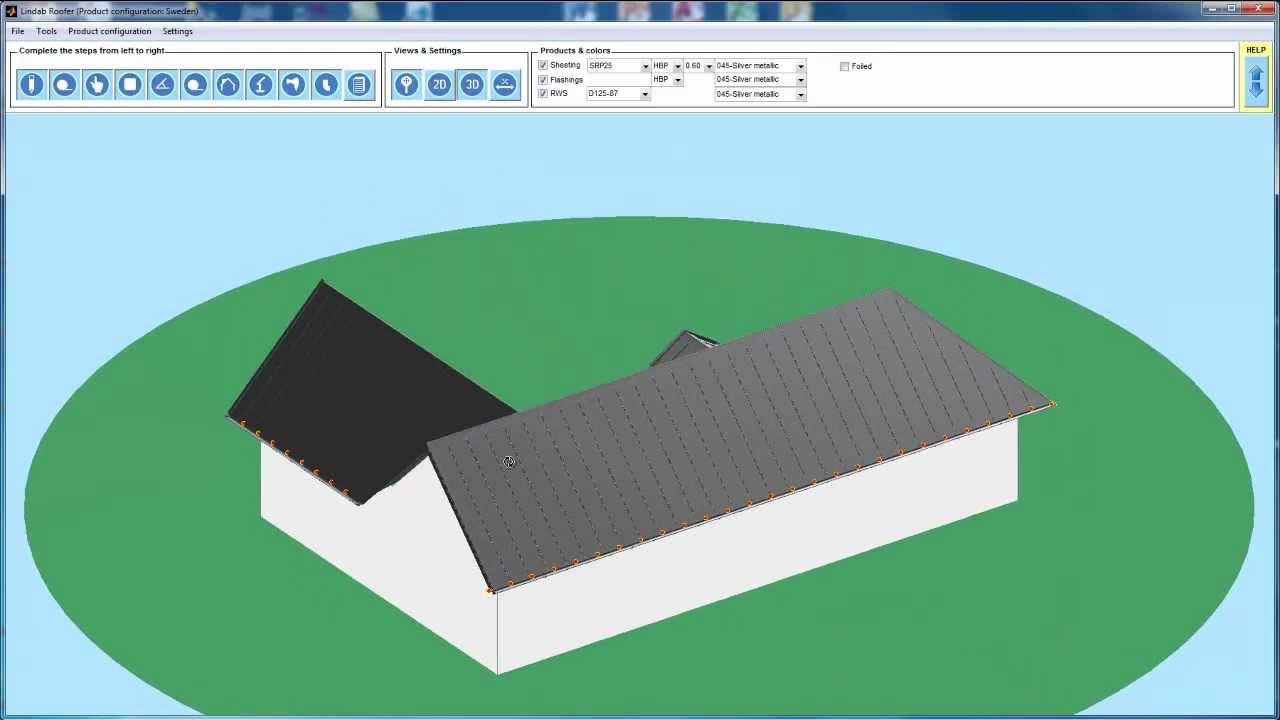 lindabroofer 2 0 tutorial 1 simple roof design youtube