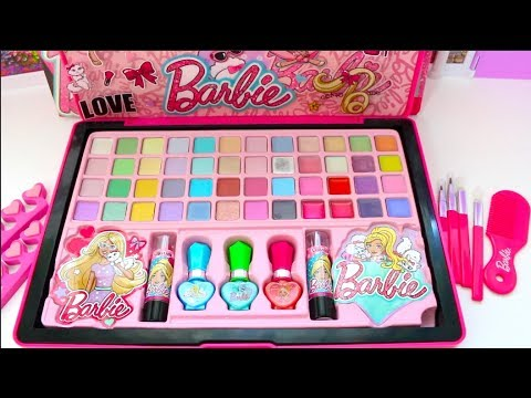 Barbie Doll New Year Deluxe Makeup Cosmetic Set💄Glitter Lip Gloss Unique Boutique