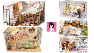 5 DIY Đồ chơi Nhà mô hình thu nhỏ / 5 DIY Miniature Dollhouse Rooms Ami DIY