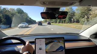 2019 Tesla Model (Driving Video ) (OnePlus7Pro Wide Angle Day time)