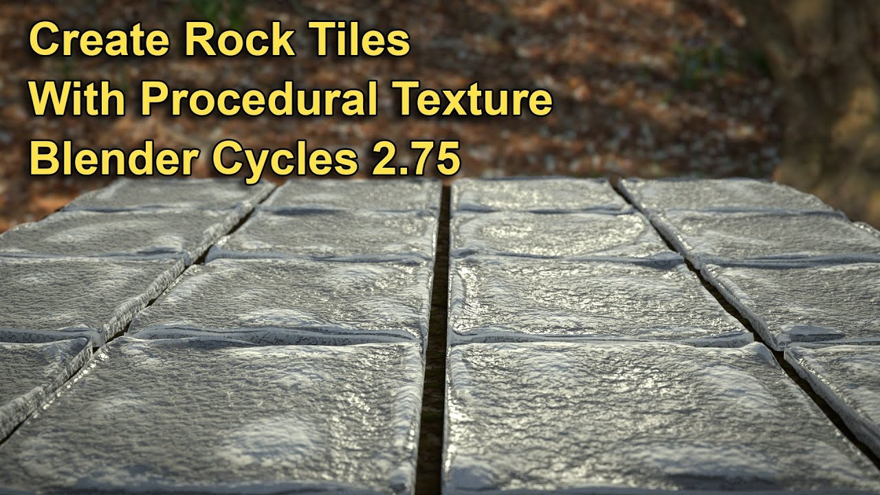 Create Procedural Rock Tiles in Blender Cycles 2 75 by crea2000