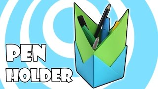 DIY: Origami Pen Holder Instructions (4 Units)