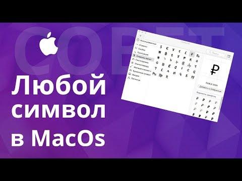 Как напечатать символы валют и прочие специальные символы в MacOS?