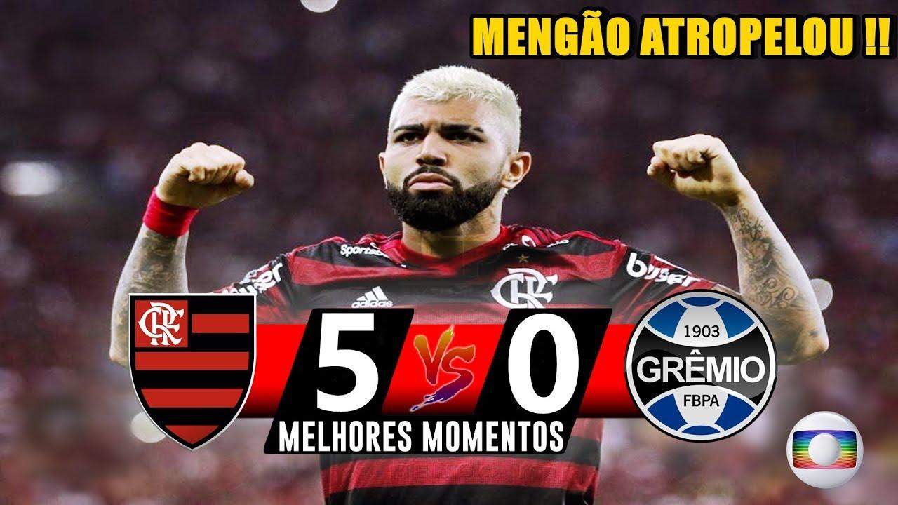 Flamengo 5 x 0 Grêmio - Gols e Melhores Momentos ...