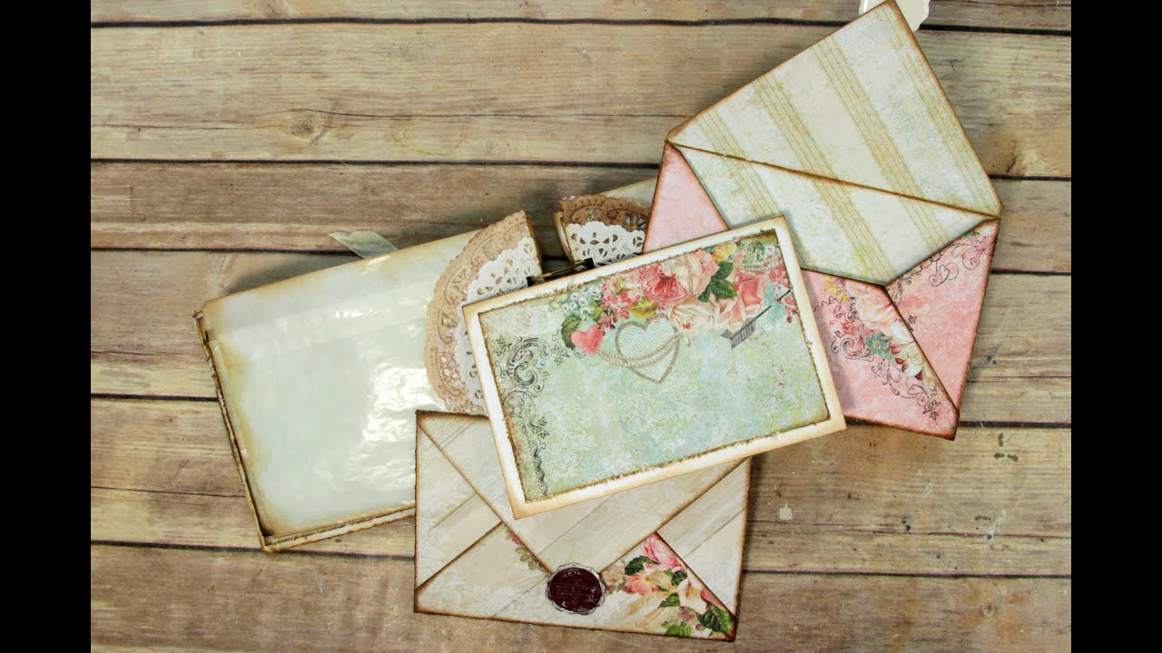 Scrapbook paper envelope - Standard Envelope Pages Assembly Using The Ultimate Diy Scrapbook Printable Template Youtube