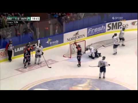 Elitserien -  Mats Trygg scores own goal | Växjö Lakers vs. HV71 | 1.12.2012