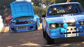 Paul Walker Tribute Car Meet - GTA 5 ONLINE