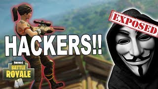 HACKERS EXPOSED LIVE in Fortnite Battle Royale - Stream highlight