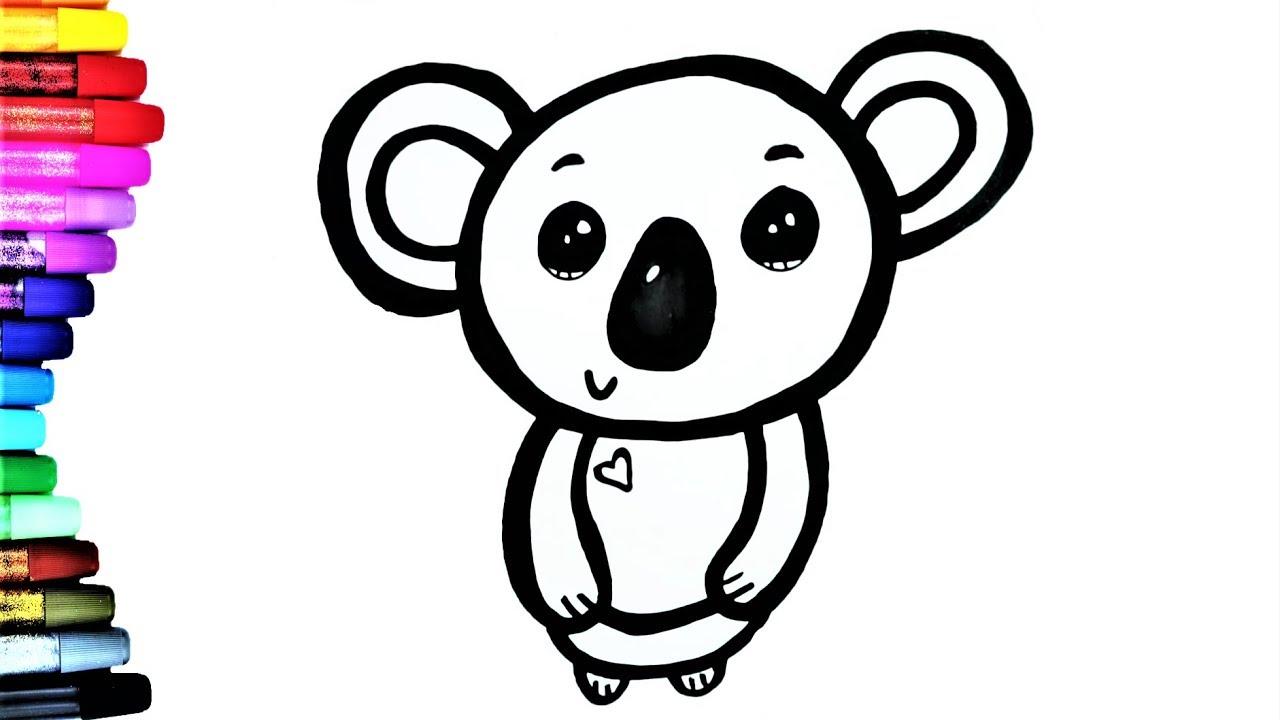 koala bear coloring pages for kidsKoala zeichnen Malvorlage für
