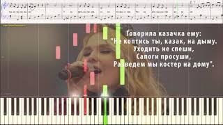 Казак Пелагея Ноты и Видеоурок для фортепиано Piano Cover