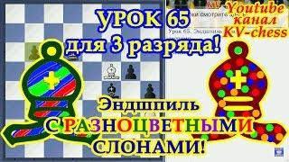 Эндшпиль с разноцветными слонами - Урок 65 для 3 разряда.