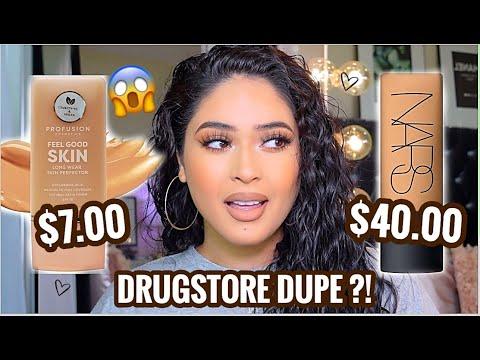 NEW $7 DRUGSTORE Foundation VS. $40 NARS Soft Matte Foundation (REVIEW + WEAR TEST) DRUGSTORE DUPE ?