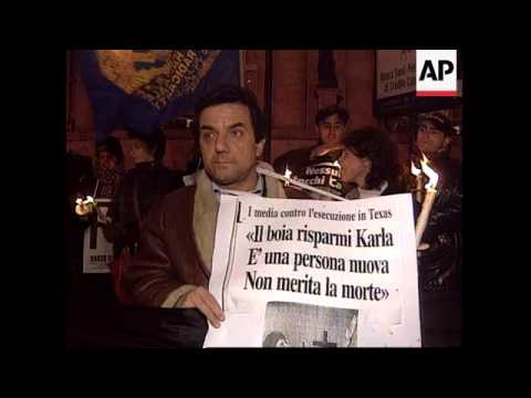 italy---vigil-held-to-protest-execution-of-tucker