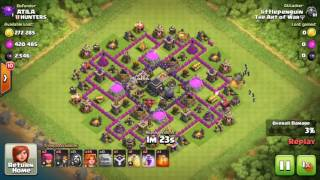 clash of clans: attack against th9 (xbow exterminator)