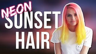 Neon Sunset Hair using Electric Paradise & Neon Moon by ArcticfoxHaircolor
