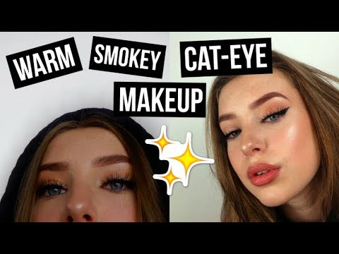WARM ORANGE SMOKEY CAT EYE MAKEUP TUTORIAL