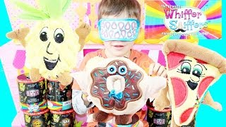 SMELL Test CHALLENGE Whiffer Sniffers Blind Fold Surprise Toys Smore Pizza Donuts Candy Toys