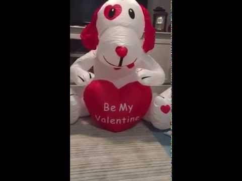 Valentineu0027s Day Inflatable Puppy Video   YouTube