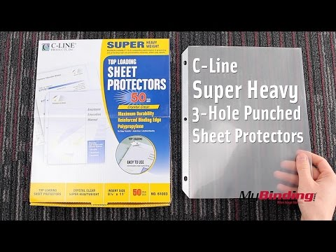 C-Line Super Heavy 3 Hole Punched Sheet Protectors