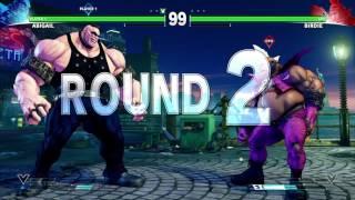 STREET FIGHTER V Abigail vs Birdie