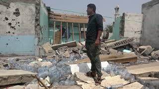 قذائف مليشيات الحوثي تدمر منازل المواطنين في حي منظر جنوب مدينة الحديدة