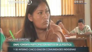 ONPE fomenta participación de pueblos amazónicos en la política nacional