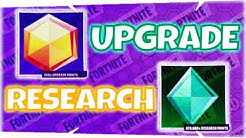 Upgrade Points & Research Points ~ LvL 82 to 95 - Fortnite StW | PvE