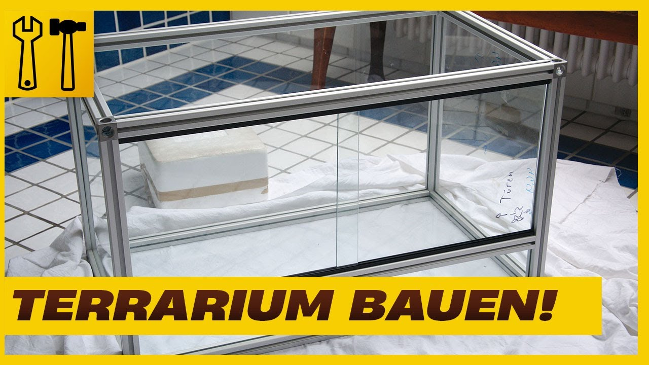aluminium glasterrarium selbst bauen terrarium selber bauen terrarium serie 02 youtube. Black Bedroom Furniture Sets. Home Design Ideas