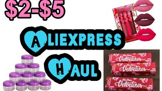 $2-$5 Aliexpress Haul June 2016 liquid Matte Lipsticks Collab ~Replica Lime crime~