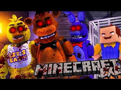 THE NEIGHBOR MAKES AN FNAF .EXE ARMY TO DESTROY THE NEIGHBOURHOOD - Minecraft Adventure