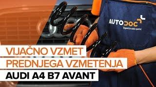 Menjava zadaj levi desni Vzmeti AUDI A4 Avant (8ED, B7) - video navodila