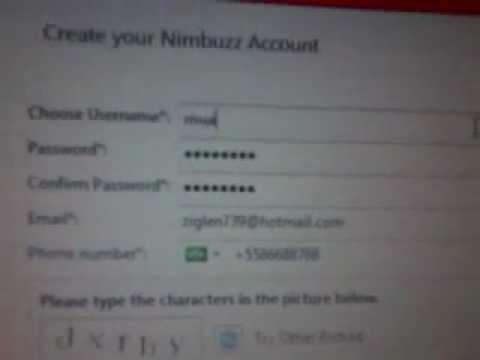 How To Create Nimbuzz Accoun