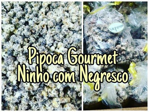 Pipoca gourmet Ninho com Negresco