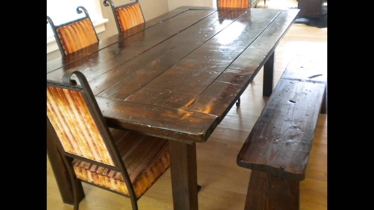 bench seat for dining room table - YouTube